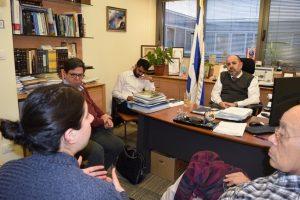 חוקרי מרכז טאוב בפגישה עם חבר הכנסת מרגי