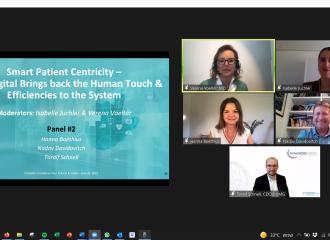 נדב דוידוביץ' הרצה בכנס של רשת החדשנות גרמניה–ישראל על חדשנות דיגיטלית במערכת הבריאות